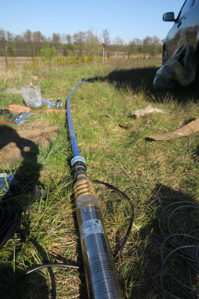 Pompa skm150 z zamocowanym przewodem