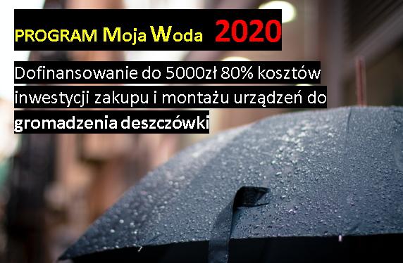 """""""Dotacja na deszczówkę"""" 2020 Program Moja Woda od 1 lipca 2020"""